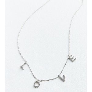 NWT Urban Outfitters LOVE Rhinestone Necklace
